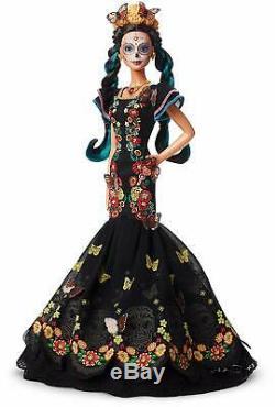 Barbie Collector Dia De Muertos Day Doll De L'édition Limitée Morte Dans La Main