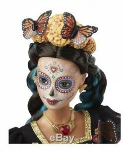 Barbie Dia De Los Muertos Jour De La Mort Poupée Mexicaine Limitée Navires Aujourd'hui
