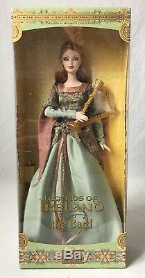 Barbie Legends Of Ireland Doll The Bard Avec Harpe B2511 Limited Edition 2004