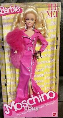 Barbie Moschino Met Edition Limitée Étiquette Platine Poupée 2019 Caucasian Nrfb