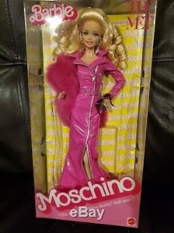 Barbie Moschino Met Limited Edition Or Étiquette Barbie Doll 2019 Caucasienne Nrfb