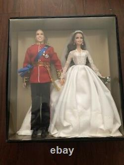 Barbie Royal Wedding Prince William Princess Kate Doll Nib Limited Edition