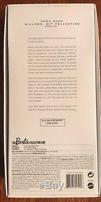 Barbie Soda Shop Edition Limitée À 4 400 Gold Label 2015 # Dgx89 Nrfb