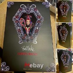 Bob Mackie Comtesse Dracula Barbie Doll Mib Très Limitée #637 De 3200 Mint V0454
