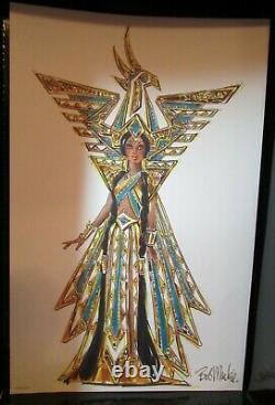 Bob Mackie Fantasy Goddess Of The Americas Barbie Limited Edition 3ème À Ser
