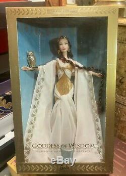 Classique Déesse -limited Ed -goddess De La Sagesse Barbie Nrfb # 28773 Scellé