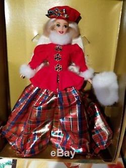 Collection De 8 Poupées Barbie Princesse Des Fêtes, Édition Limitée Et Poupée De Convention