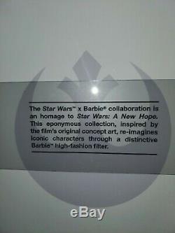 Dans La Main Princesse Leia Barbie Doll X Star Wars Limited Edition