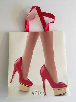 Édition Limitée Charlotte Olympia Barbie Toujours En Usine Tissue + Bonus Co Bag