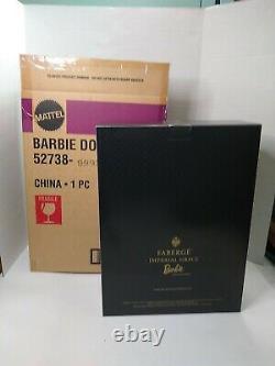 Édition Limitée Faberge Imperial Grace Porcelaine Barbie Mattel 2001 Avec Shipper