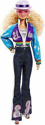Elton John Barbie Doll Limited Edition Collecteur Avec Stand Et Certificat Wow