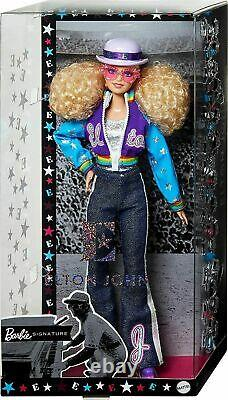 Elton John Barbie Doll Limited Edition Collector Avec Stand Et Certificat