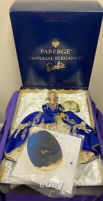 Faberge Imperial Elegance Porcelain Barbie 1997 Edition Limitée Htf