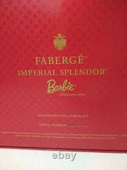 Faberge Imperial Splendor Porcelaine Barbie Doll 27028 Nrfb Limited Série #01220