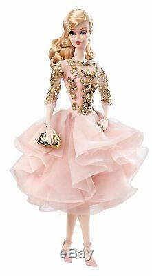 Fard À Joues Et Or Robe De Cocktail Silkstone Barbie Nrfb Monnaie Limitée À 10 000