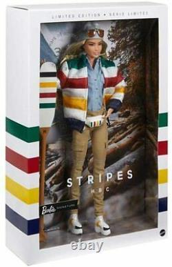 Hbc Hudson's Bay Stripe 350th Anniversary Barbie Doll 2020 Bnib Limited Edition