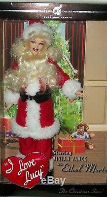 J'aime Lucy Le Spectacle De Noël Ethel Doll Barbie Limited Edition 999 Comedy Tv 50
