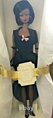 Le Modèle De Mode Lingerie Silkstone Black Barbie Doll #56120 -limited Edition