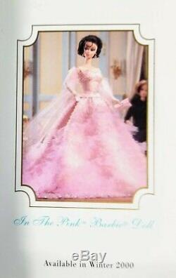Limited Edition (2000) Silkstone Barbie Dans Le Modèle Rose De Mode Collection