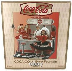 Limited Edition Coca-cola Soda Fountain Diorama Encore Cachetées Dans Shipper