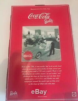 Limitée 1998 Mattel Barbie 23934 Coca-cola Brune Waitress Car Hop Convention