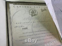 Mattel Barbie Doll Cristal Jubilé 40e Anniversaire Collector Limited Edition