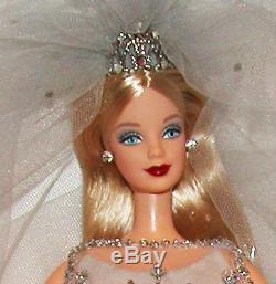 Millennium Bride Barbie Doll Edition Limitée 1999 Boîte De Cristaux De Swarovski Coa Pin