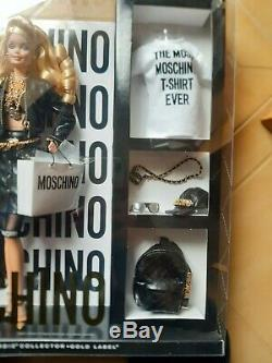Moschino Barbie Doll Nrfb 2015 Label Gold Limited Htf