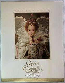 Nib 2004 Gold Label Reine Elizabeth I Barbie Doll / Femme De Droits Limitée Ed