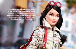 Nib Coach Barbie Collection Designer Étiquette Gold Limited 2013 Barbie Doll