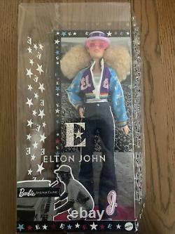 Nouveau Elton John Barbie Doll Limited Edition Collector Avec Stand Ships Aujourd'hui
