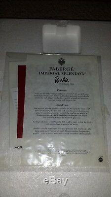 Nouveau Manchon Faberge Imperial Splendor Barbie Rouge Edition Limitee Porcelaine