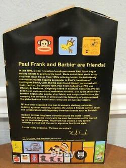 Nouvelle Poupée Paul Frank Barbie 2004 Avec Pajamas Edition Limitée #b8954 Nrfb