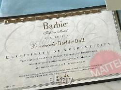 Nrfb 2001 Poupée Barbie Silkstone Mattel Provencale, Édition Limitée, Avec Certificat D'authenticité