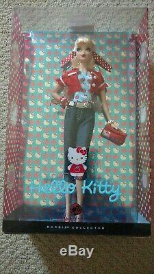 Nrfb Mattel Poupée Barbie 2008 Étiquette Rose Hello Kitty Sanrio En Édition Limitée