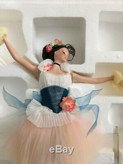 Plus Léger Que L'air Porcelain Ballerina Barbie Nrfb Limited Edition En Shipper