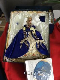 Poupée Barbie En Porcelaine Faberge Imperial Elegance Édition Limitée Nrfb Coa Bleu