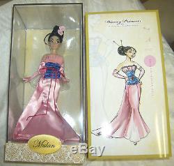 Poupée Mulan Disney Designer Princess Collection Édition Limitée 6000