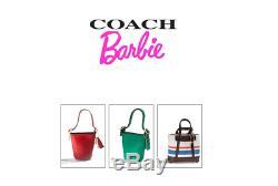 Rare! Édition Limitée Barbie Miniature Coach Purse Set Complet Dans La Boîte