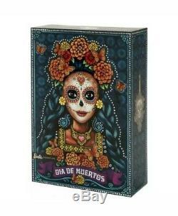 Sold Out Limited Edition Mattel Dia De Los Muertos Barbie En Main Prêt À L'expédition