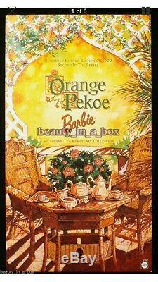 Thé Victorien Orange Pekoe Barbie Collection En Porcelaine, Édition Limitée