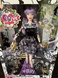 Tokidoki Barbie Doll Platinum Label 10ème Anniversaire Pourpre Limitee Rare + Cadeau