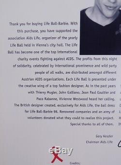 Vivienne Westwood 1997 98 Life Ball Barbie Édition Limitée